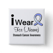 Customizable I Wear a Stomach Cancer Ribbon Pinback Button