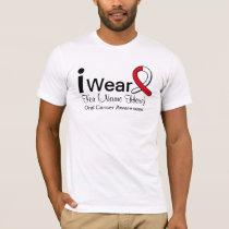 Customizable I Wear Oral Cancer Ribbon T-Shirt