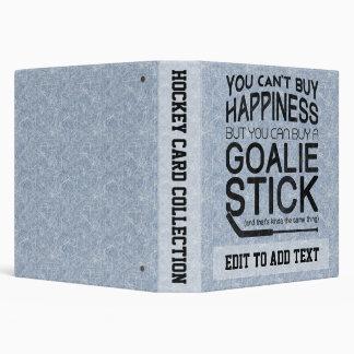 Customizable Ice Hockey Goalie 3 Ring Binder