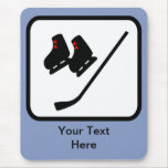 Customizable Ice Hockey Logo Mouse Pad