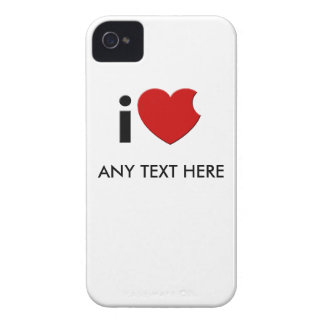 """Customizable- iLove """"Any Text Here""""  iPhone 4 Case"""