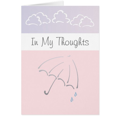 Customizable In My Thoughts Sympathy Card