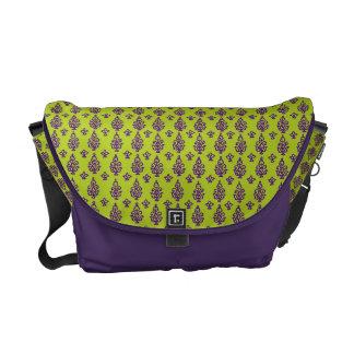 Customizable India Block Print Messenger Bag