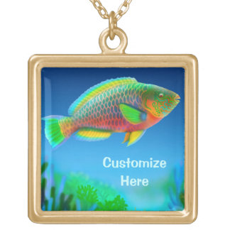 Customizable Indo Pacific Parrotfish Necklace