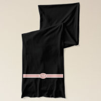 customizable initials scarf