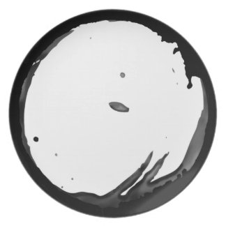 Customizable Ink Stained Rim Dinner Plate