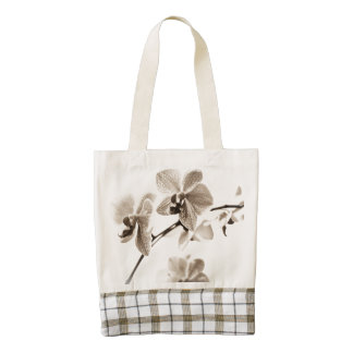 Customizable Intials Orchid Tote Bag