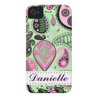 Customizable iPhone 4 Paisley Mobile Device Case