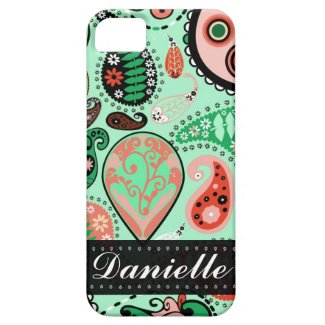 Customizable iPhone 5 Paisley Mobile Device Case iPhone 5 Cover