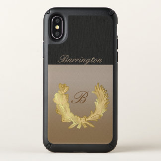 Customizable iPhone X case initial and name