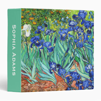 Customizable Irises By Vincent Van Gogh 3 Ring Binder