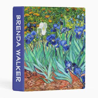 Customizable Irises By Vincent Van Gogh Mini Binder