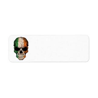 Customizable Irish Flag Skull Label