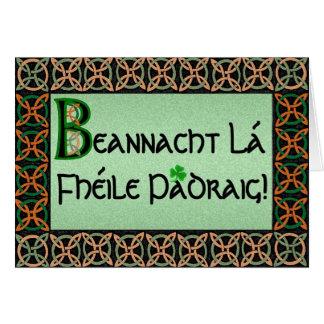 Customizable Irish Gaelic St. Patrick's Day Card