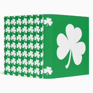 Customizable Irish Shamrock Binder