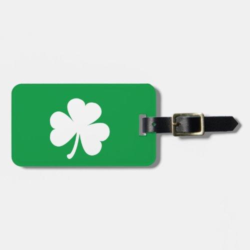 Customizable Irish Shamrock Luggage Tag