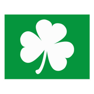 Customizable Irish Shamrock Postcard