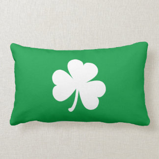 Customizable Irish Shamrock Throw Pillow