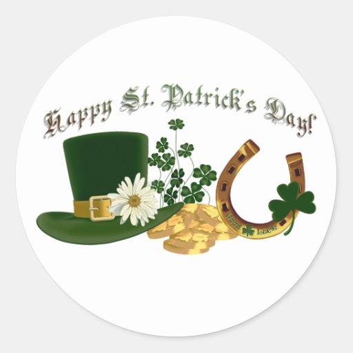 CUSTOMIZABLE Irish St. Patrick's Design Classic Round Sticker
