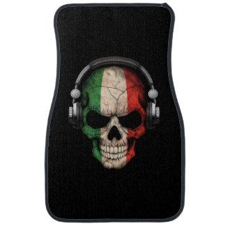 Customizable Italian Dj Skull with Headphones Car Floor Mat