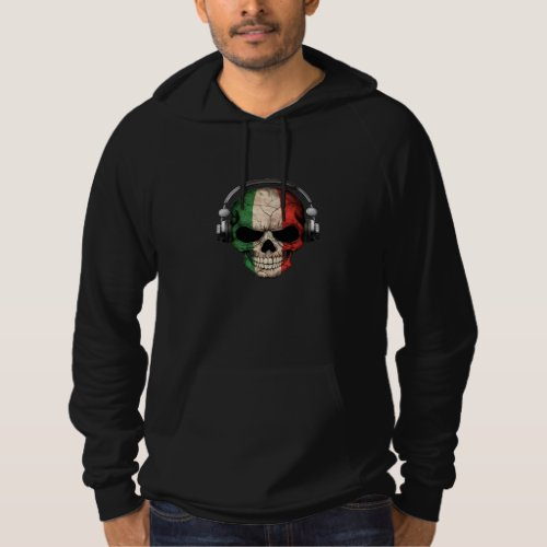 Customizable Italian Dj Skull with Headphones Hoodie