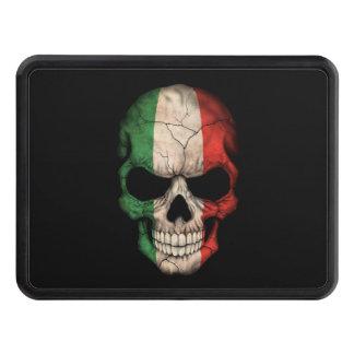 Customizable Italian Flag Skull Trailer Hitch Cover