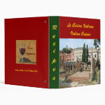 CUSTOMIZABLE Italian Roman recipes Photo  Folder Vinyl Binder