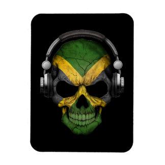 Customizable Jamaican Dj Skull with Headphones Magnet
