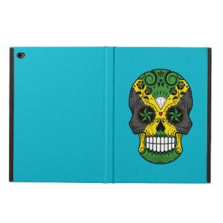 Customizable Jamaican Flag Sugar Skull with Roses Powis iPad Air 2 Case