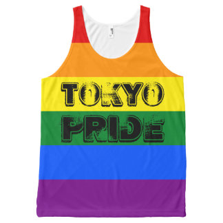 Customizable Japan Tokyo Pride LGBT Rainbow Flag All-Over-Print Tank Top