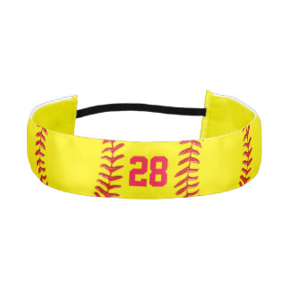 Customizable Jersey Number Softball Hair Bands Athletic Headband