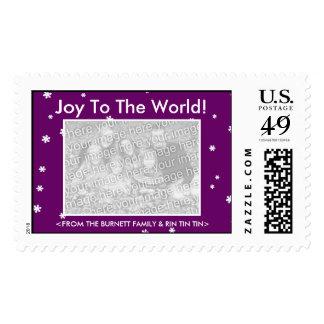 CUSTOMIZABLE Joy To The World Stamp - My Dog Votes