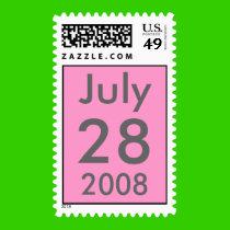 Customizable July Wedding Stamp