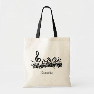 Customizable Jumbled Musical Notes Tote Bag