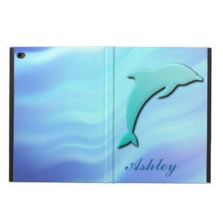 Customizable Jumping Dolphin 3D effect monogram Powis iPad Air 2 Case