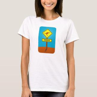 Customizable kangaroo crossing Sign T-Shirt