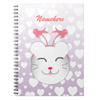 Customizable: Kawaii Alfie kitty Notebook