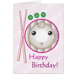 Customizable: Kawaii little dumpling Card