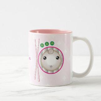 Customizable: Kawaii little dumpling Two-Tone Coffee Mug