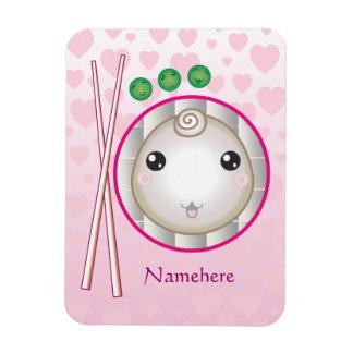 Customizable: Kawaii little dumpling Rectangular Photo Magnet