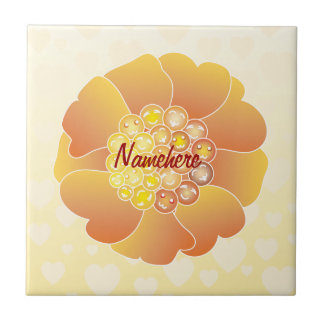 Customizable: Kawaii sunflower Tile