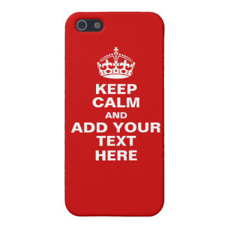 Customizable Keep Calm And Carry On iPhone Case