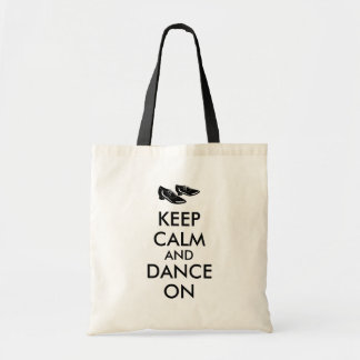 Customizable Keep Calm and Dance On Dancing Shoes Tote Bag