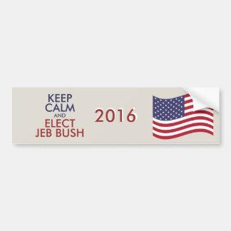 Customizable Keep Calm And Elect JEB BUSH Bumper Sticker