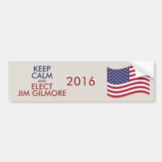 Customizable Keep Calm And Elect JIM GILMORE Bumper Sticker