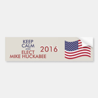 Customizable Keep Calm And Elect MIKE HUCKABEE Bumper Sticker
