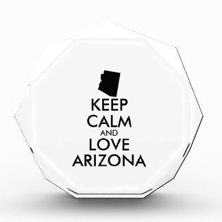 Customizable KEEP CALM and LOVE ARIZONA Award