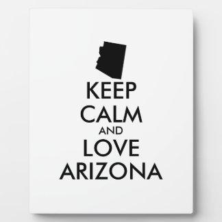 Customizable KEEP CALM and LOVE ARIZONA Plaque