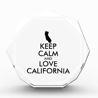 Customizable KEEP CALM and LOVE CALIFORNIA Awards