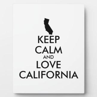 Customizable KEEP CALM and LOVE CALIFORNIA Plaque